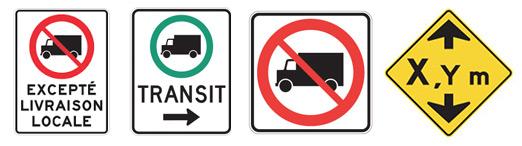 signalisation routière pour camion